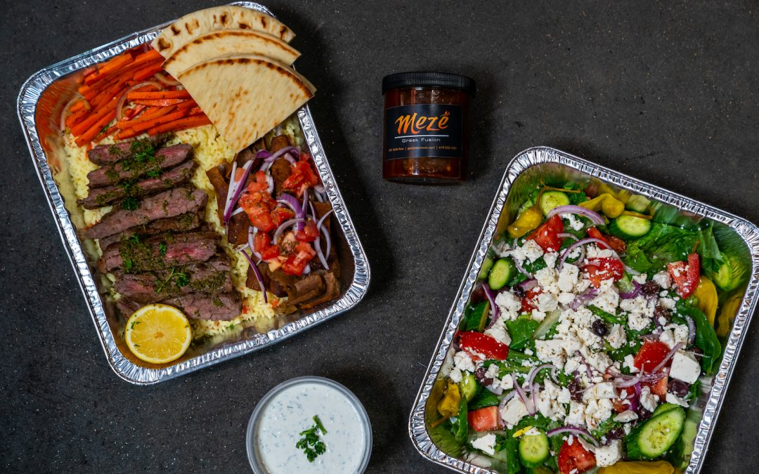 Mezé Greek Fusion Reopens with Family-Style Meals and Cocktails for Takeout and Delivery